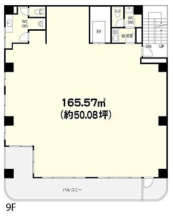 フォーラム浅草田原町 9階(店舗可)の間取り画像