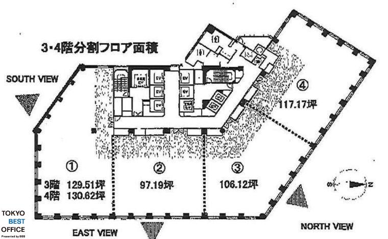 MOMENTO SHIODOME(モメント汐留) 3階③の間取り画像