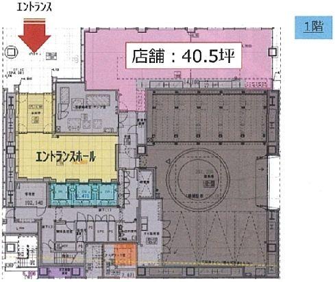 内神田ミッドスクエア(旧:(仮称)内神田一丁目計画) 1階(店舗限定)の間取り画像