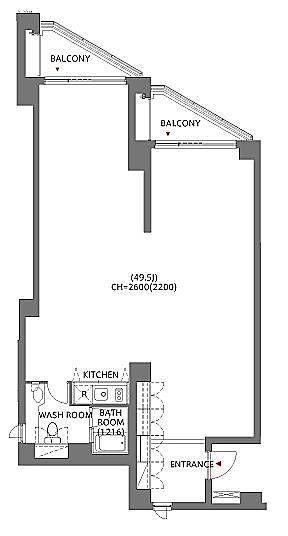 アークヒルズエグゼクティブタワー 8階N811(SOHO)の間取り画像