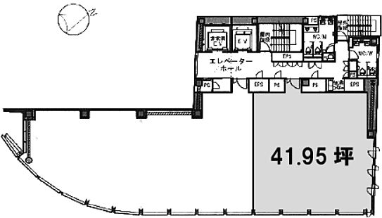 TORANOMON BUILDING(虎ノ門ビル) 8階802の間取り画像