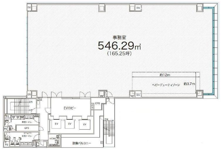 (仮称)赤坂二丁目開発計画 9階の間取り画像