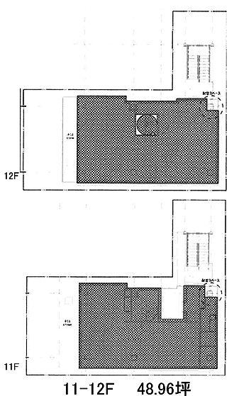 テイテル内神田3丁目ビル(仮称)内神田3丁目PJ 11階~12階(メゾネット・SOHO)の間取り画像