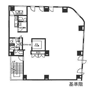 香蘭社ビル 9階の間取り画像