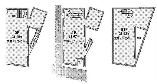 (仮称)南平台プロジェクト 地下1階~2階(一棟貸・店舗限定)の間取り画像