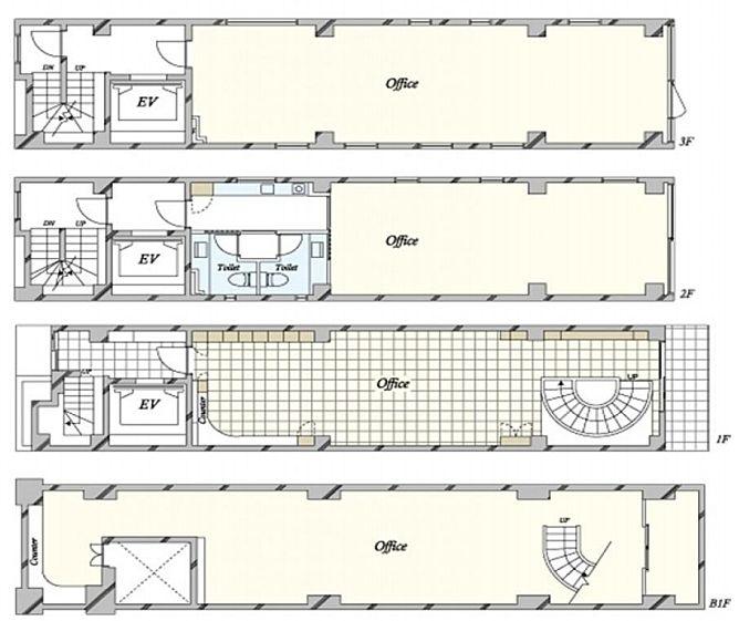 アーツ東京 地下1階~3階(店舗可)の間取り画像