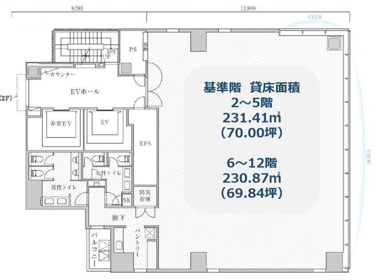 PMO神田万世橋 11階の間取り画像