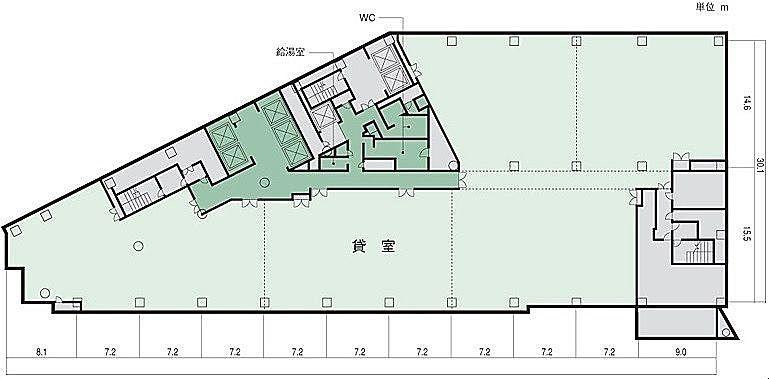小田急サザンタワー 12階 平面図