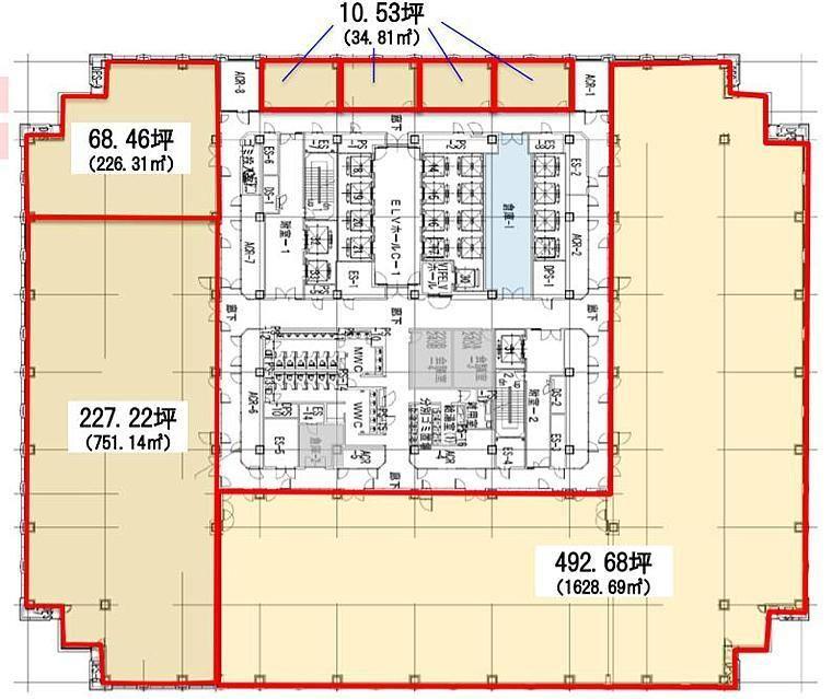 品川グランドセントラルタワー 24階の間取り画像
