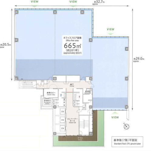 プライムテラス神谷町(Prime Terrace KAMIYACHO) 7階の間取り画像