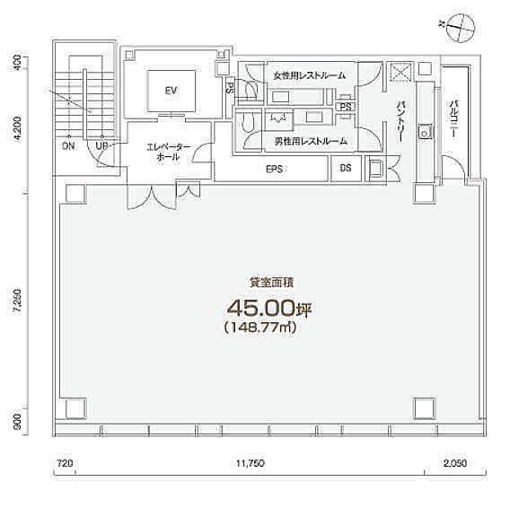 PMO岩本町 2階の間取り画像