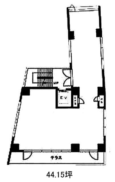 JECTONE神宮前ビル 3階(店舗可)の間取り画像