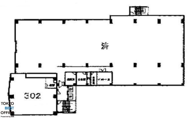 サンポウ池袋ビル 3階302の間取り画像