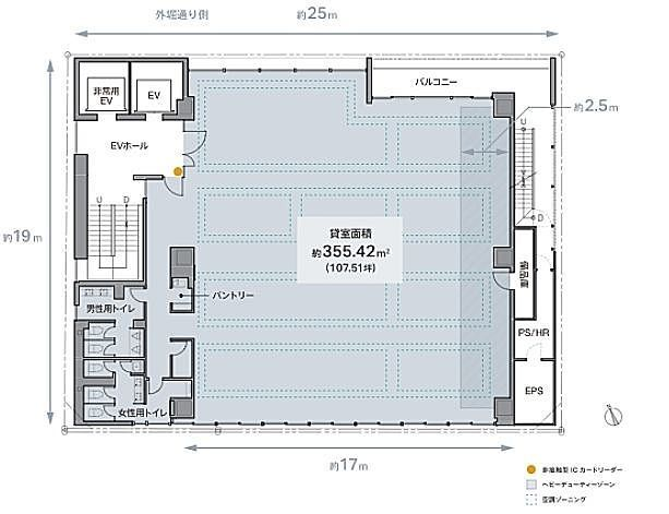 REVZO虎ノ門 4階の間取り画像