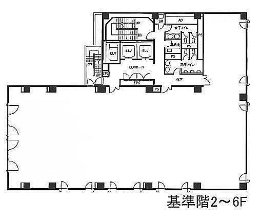 銀座木挽ビル 6階の間取り画像