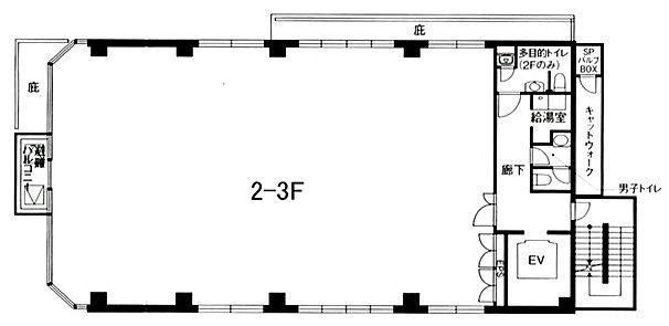 新橋エンタービル 2階の間取り画像