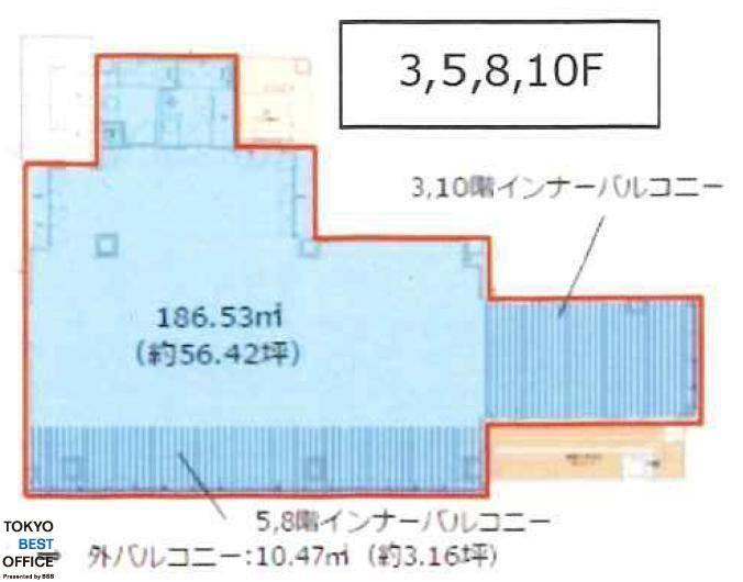 CIRCLES日本橋馬喰町 5階の間取り画像
