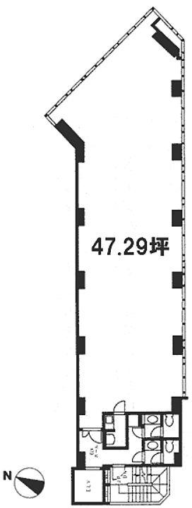 日宝水道橋ビル 3階の間取り画像