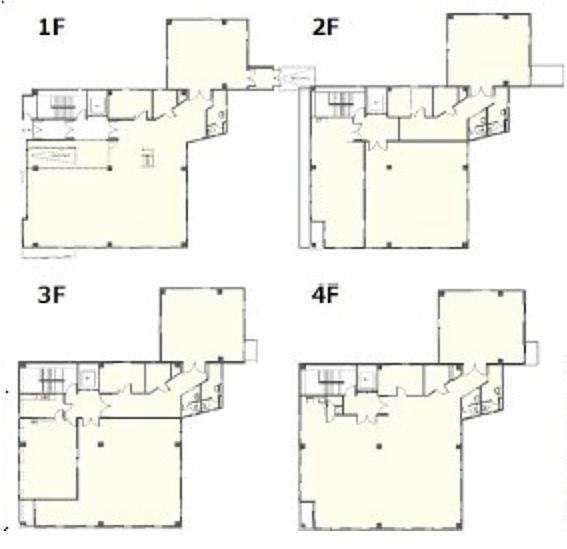 イプソンビル 1階~4階(店舗可)の間取り画像