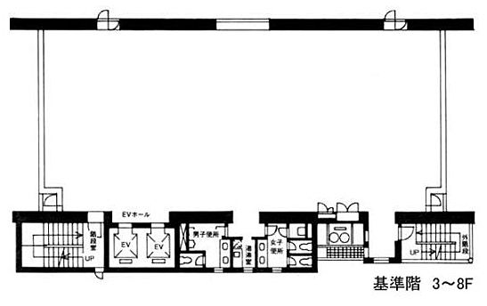 NTF竹橋ビル 7階の間取り画像