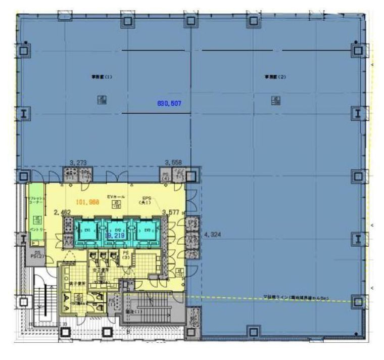 (仮称)内神田一丁目計画 5階の間取り画像