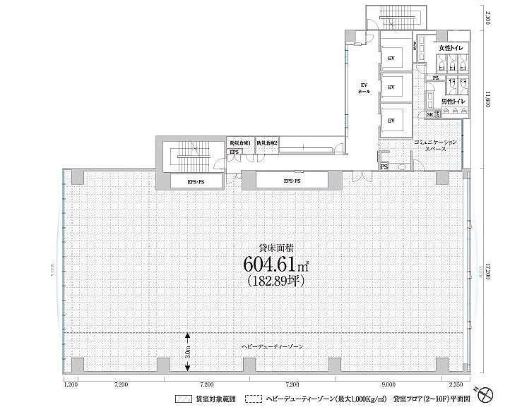 PMO田町東 5階の間取り画像