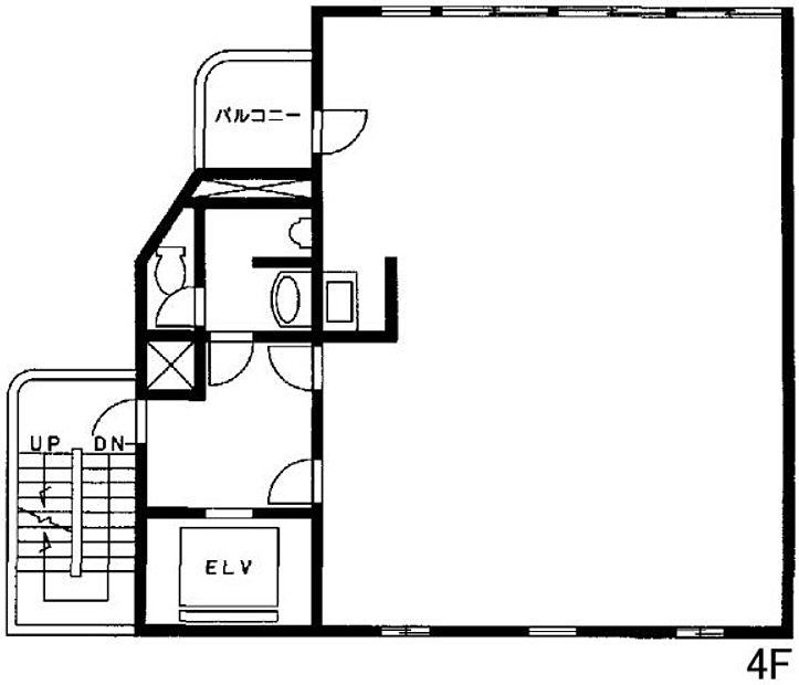 池袋C3ビル 4階(店舗可)の間取り画像