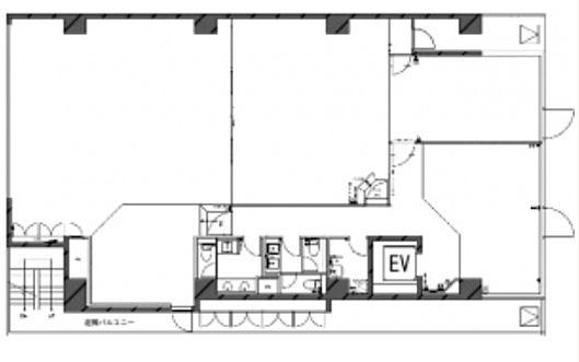 築地リバーフロントビル(旧:塩瀬ビル) 6階の間取り画像