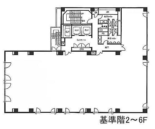 銀座木挽ビル 2階の間取り画像