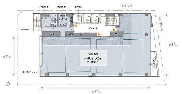 REVZO日本橋 8階の間取り画像