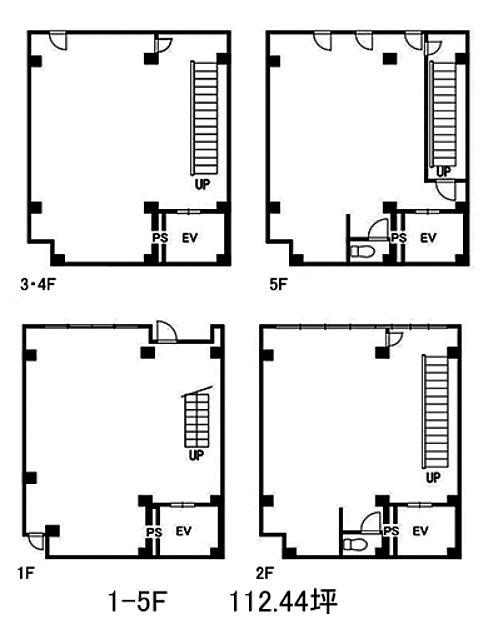第6イチオクビル 1階~5階(一棟貸・店舗可)の間取り画像