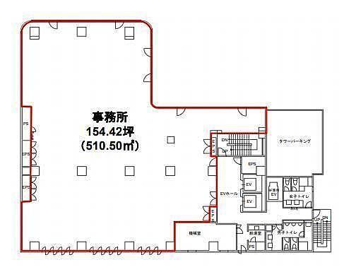 東池袋センタービル 4階の間取り画像