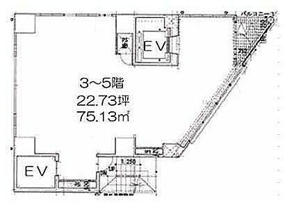 LASPACIO浅草レジデンス 3階(店舗限定)の間取り画像