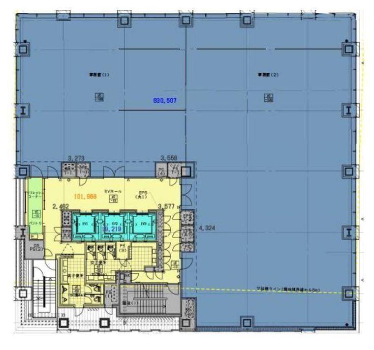 内神田ミッドスクエア(旧:(仮称)内神田一丁目計画) 8階の間取り画像
