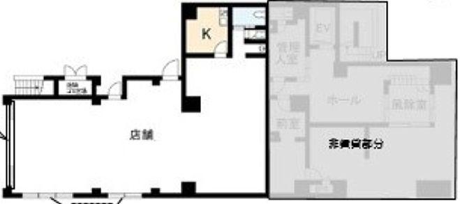 (仮称)浅草1丁目計画 1階(店舗限定)の間取り画像
