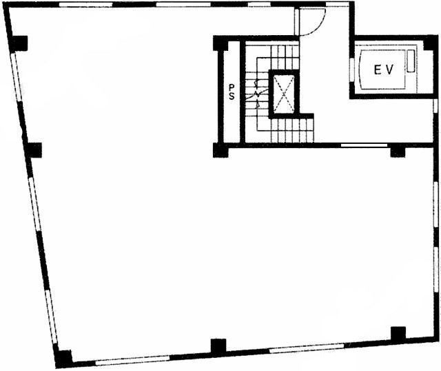 PRELUDE-M(プレリュード‐エム) 3階(店舗可)の間取り画像