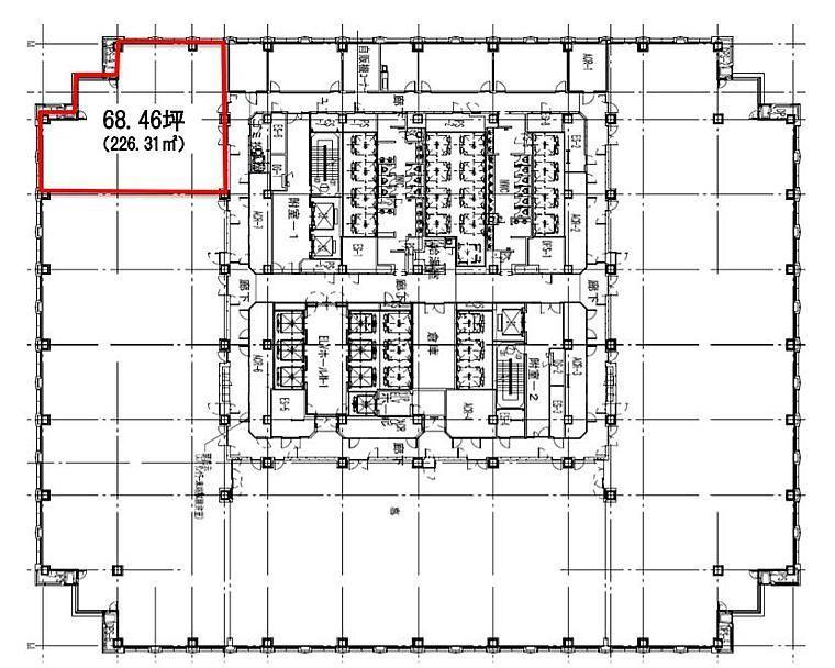 品川グランドセントラルタワー 8階の間取り画像