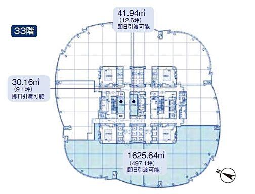 六本木ヒルズ森タワー 33階の間取り画像