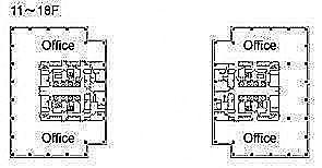 テレコムセンタービル 西棟10階の間取り画像