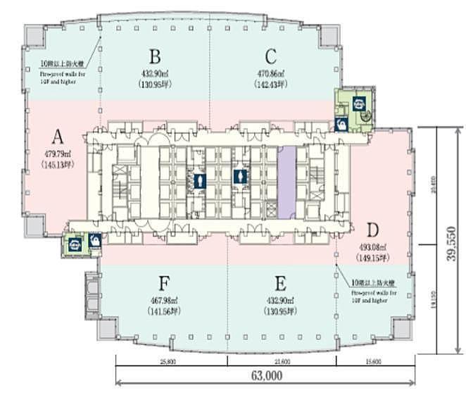 恵比寿ガーデンプレイスタワー 23階BCの間取り画像