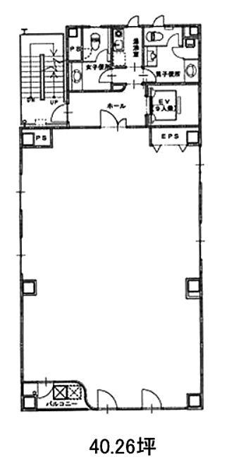 千洋ビル 4階の間取り画像