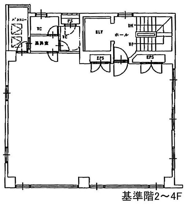 第6矢木ビル(第六矢木ビル) 4階の間取り画像