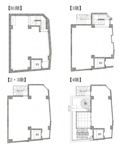 HIBICA神宮前 地下1階~4階(一棟貸・店舗限定)の間取り画像