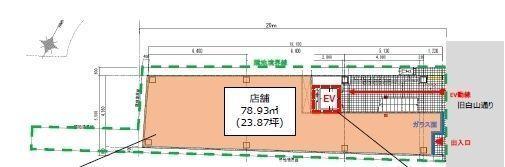 (仮称)フィル・パーク白山ヒルズ 1階(店舗限定)の間取り画像