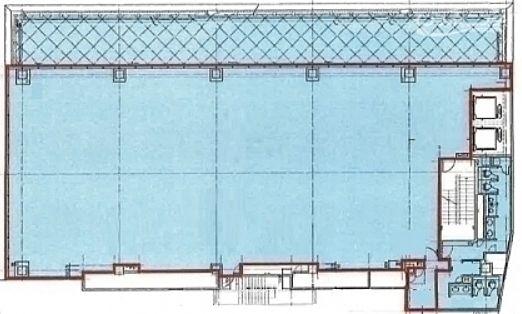 ラウンドクロス六本木(旧:セントラム六本木ビル) 地下1階(飲食店舗限定) 平面図