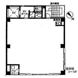 アクア神田ビル 10階の間取り画像