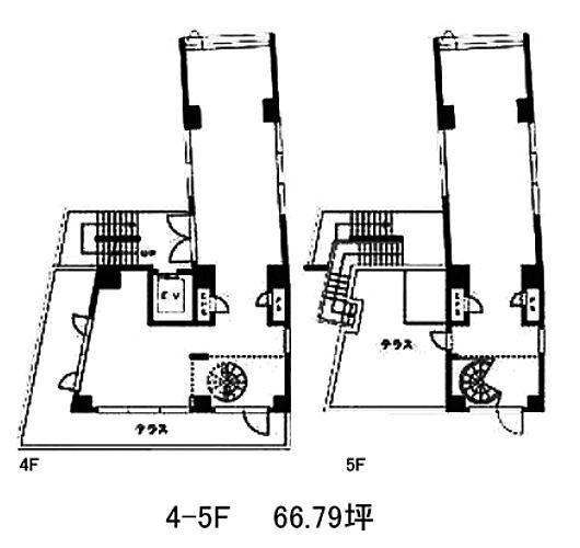 JECTONE神宮前ビル 4階~5階(店舗可)の間取り画像