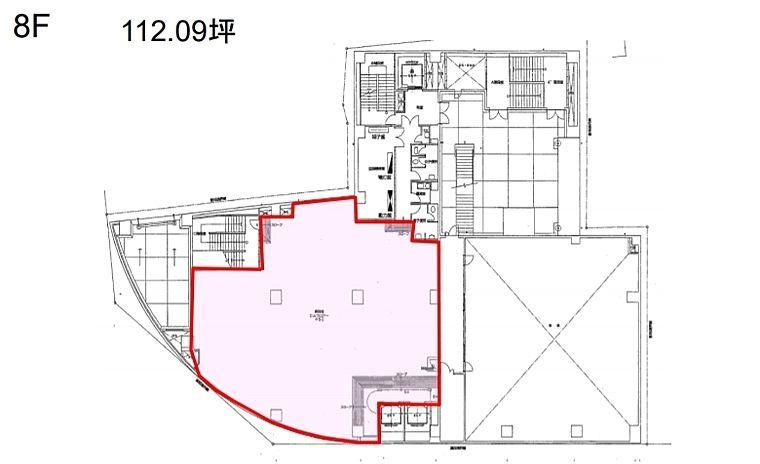 上野鈴乃屋本店ビル 8階(店舗可)の間取り画像
