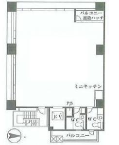 フェリスビル 2階の間取り画像