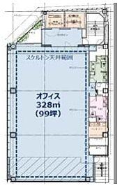 KANDA SQUARE GATE(旧:(仮称)内神田一丁目本郷通PJ) 2階の間取り画像